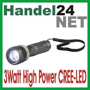 arcas 3 Watt LED ZOOM Aluminium Taschenlampe CREE LED