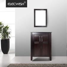 24'' Bathroom Vanity Cabinet Vessel Sink Freestanding Basin Faucet Combo Set Us