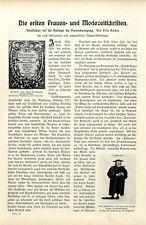 Die ersten Frauen-und Modezeitschriften Erste Journalistin Deutschlands von 1906