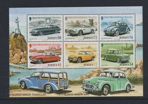 Jersey - 2005, Classic Cars, Morris Minor Booklet Pane sheet - MNH - SG 1204/9