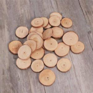 30-120Pcs Wood Slices Round Discs Tree Bark Log Wooden Circles 5-6CM DIY Craft