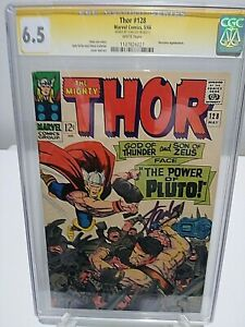 THOR #128 CGC 6.5 SS Signed by STAN The Man LEE