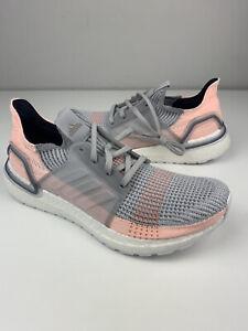 NEW Adidas Women's UltraBoost 19 Grey Clear Orange Running Shoe B75881 Size 11.5