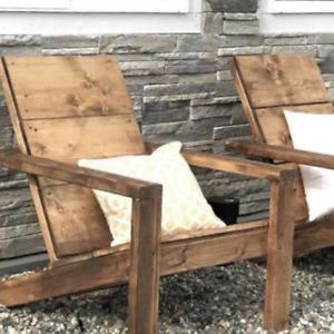 Modern Adirondack handmade Chair new