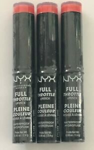 (3) NYX Full Throttle Lipstick, FTLS09 Jolt