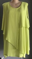NWT Chartreuse VIRTUELLE Sleeveless Bahamas Drape Dress Urban Chic Size 24