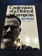 Confessions Of A Disloyal European, by Jan Myrdal-1968-1st Ed., 1st Prtg., Vtg.