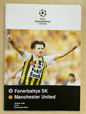 1996/97 Fenerbahce V MANCHESTER UNITED CHAMPIONS LEAGUE football programme