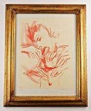 Erotischer weibl. Akt, Kreidezeichnung, sign. Walter Opitz, gerahmt  (OP2)