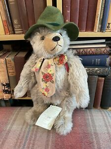 Max Hermann Teddy - Happy Wanderer Musical Bear -Limited Ed-Label-Mohair-Vintage