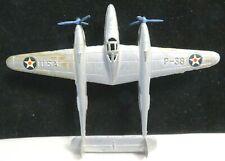 Vintage TootsieToy Silver P-38 U.S. Fighter Plane Metal Wheels Mfg. 1950