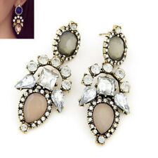 Fashion Women Crystal Rhinestone Stud Ear Dangle Charm Earrings Jewelry Gift
