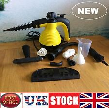 Electric Steam Cleaner Portable Hand Held Powerful Steamer Cleaning Set YELLOW