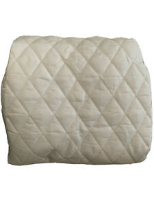 Waterproof Quilted Mattress Pad Cover - Bassinet - White