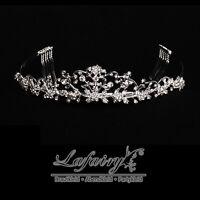 Luxus Diadem Strass Tiara Brautschmuck Haarreifen Haarschmuck Hochzeit