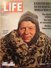 LIFE Dec 4 1970 Khrushchev POW families Blanda Lamonica