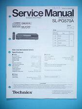 Service Manual for Technics sl-pg570a, Original