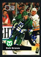 Rob Brown #80 signed autograph auto 1991-92 Pro Set Hockey Trading Card