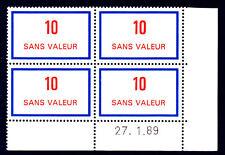 FRANCE TIMBRE FICTIF F248 ** coin daté 27.1.89, TB