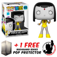 FUNKO POP TEEN TITANS GO RAVEN AS LADY LEGASUS EXCLUSIVE + FREE POP PROTECTOR