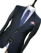 BNWT LUXURY MENS PAUL SMITH THE WESTBOURNE LONDON SOLID NAVY CHIC SUIT 36R W30