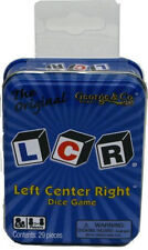 LCR Left Center Right Dice Game Tin Original Family Fun 3+ Players