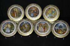"Set of 7 Vintage 1978 Franklin Mint GRIMM'S FAIRY TALES 8"" Collector's Plates"