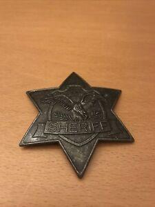 TEXAS SHERIFF Abzeichen Stern von IDEAL Made in Germany DBGM