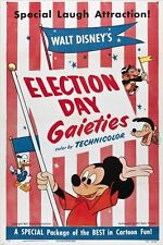 MICKEY MOUSE in ELECTION DAY GAIETIES vintage movie poster WALT DISNEY 24X36