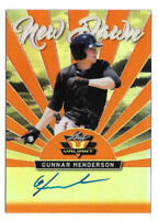 2019 Gunnar Henderson Leaf Valiant Rookie Auto New Dawn Orange 2/35 - Orioles