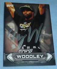 Tyron Woodley Signed 2014 UFC Topps Knockout Card #21 PSA/DNA COA Autograph 171
