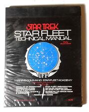 Original 1975 Star Trek Star Fleet Technical Manual- Hardcover 1st Print (E1242)