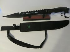 "TX-481BK Tac Xtreme Blk Rubberized Abs Machete with Sheath 25"" Overall SS Blade"