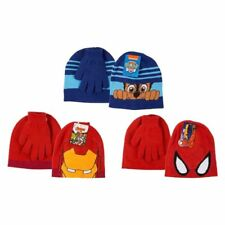 Hat And Gloves Set Paw Petrol Avengers Spider man Winter Hat Kids Boys Gift Xmas