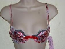 NWT Jezebel Underwire Push Up Demi Bra Multi Color Design Size 36C