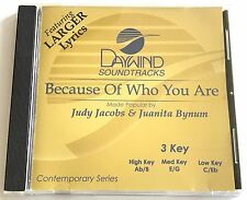 Daywind - Judy Jacobs & Juanita Bynum  Because of who you are - accompaniment cd