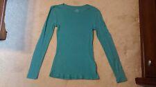 Womens S Bluegreen Old Navy long sleeve shirt top blouse RN54023 STY 595960