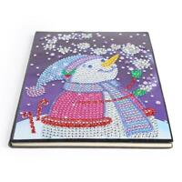 DIY Christmas Snowman Special Shaped Diamond Painting 60 Pages A5 Notebook #ORP