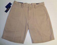 "Polo Ralph Lauren Size 34 34W CLASSIC FIT 9"" Montana Khaki Shorts New Mens"