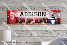 Personalized/Customized Sing Movie Name Poster Wall Art Decoration Banner