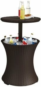 New Brown Outdoor Deck/Patio Keter Rattan Cool Pool Bar