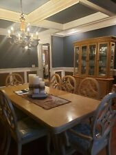 Gorgeous Dining Room Set Includes Table, 6 Chairs, 2 Side Chairs And Wall Unit