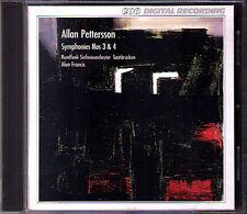 Allan Pettersson Symphony No. 3 & 4 Alun Francis CPO cd sinfonie RSO Saarbrücken