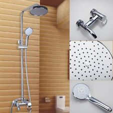 8 inch Shower Faucet Set Chrome Brass Wall Mounted Bathtub Spary Mixer Taps Unit