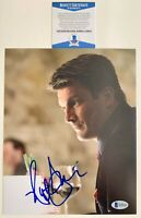 Nathan Fillion Autographed Castle 8x10 Photo Signed Firefly With Beckett COA