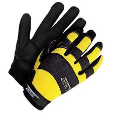 2 Pairs BDG Bob Dale Performance Leather Palm Work Gloves Size X-Large Yellow