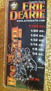 1//100 oz Jigs 25 Niclel Livebait Crappie Trout Steelhead