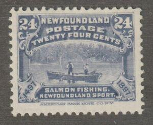 Newfoundland 1897 #71 Discovery of Newfoundland (Salmon Fishing) - Fine, MH (01)