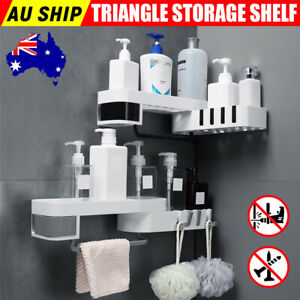 Bathroom Corner Shower Shelf Shampoo Soap Holder Storage Rack Organiser Caddy AU