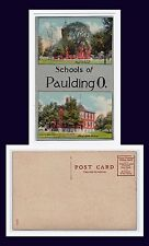 OHIO PAULDING TWIN VIEWS OF  WEST SIDE AND HIGH SCHOOLS DIVIDED BACK CIRCA 1907